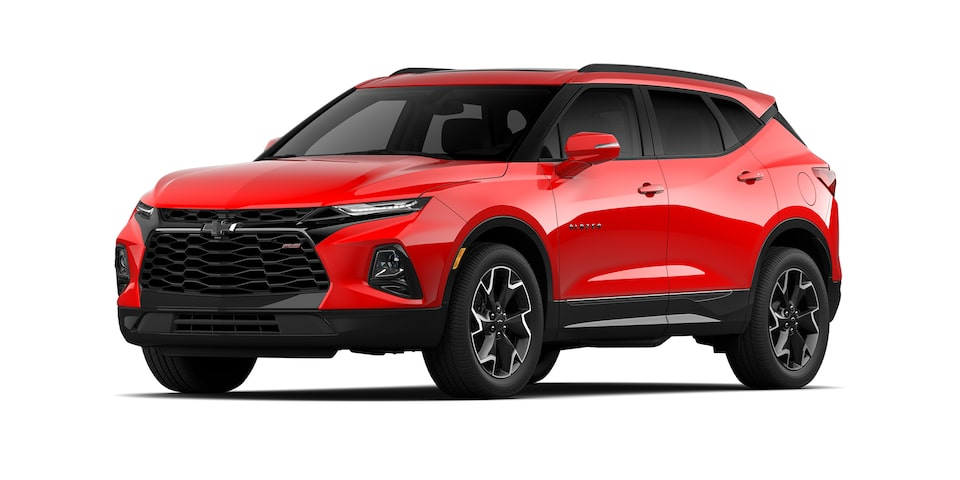 Chevrolet Blazer 2021 color rojo lava